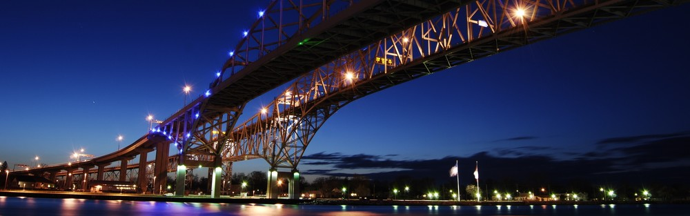 Blue Water Bridge Panoramic Wallpaper