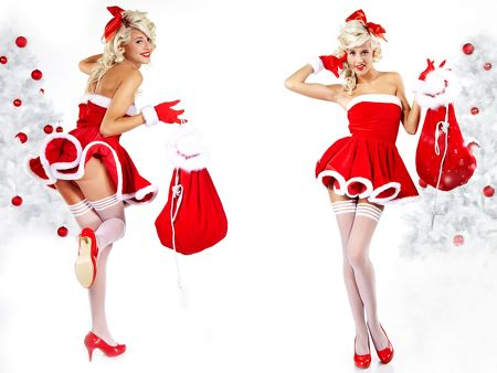Christmas-Santa-Girls-Hot-wide-Desktop